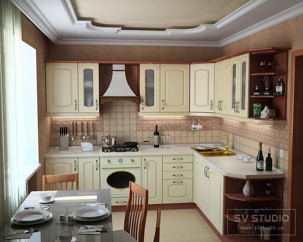 Дизайн кухни фото маленькая кухня классика